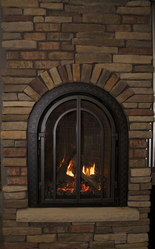 Jcs Showroom Mendota Brick Paneling Gas Fireplace