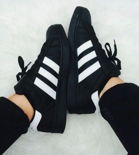 black adidas girls shoes