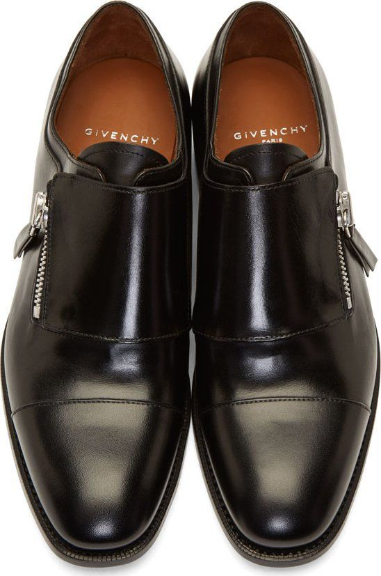 737e1a5e852 Givenchy Black Leather Zipped Monk Strap Shoes...interesting twist! Men  Style Inspiration  menstyle  Imforstyle More on the blog-www.imforstyle.com
