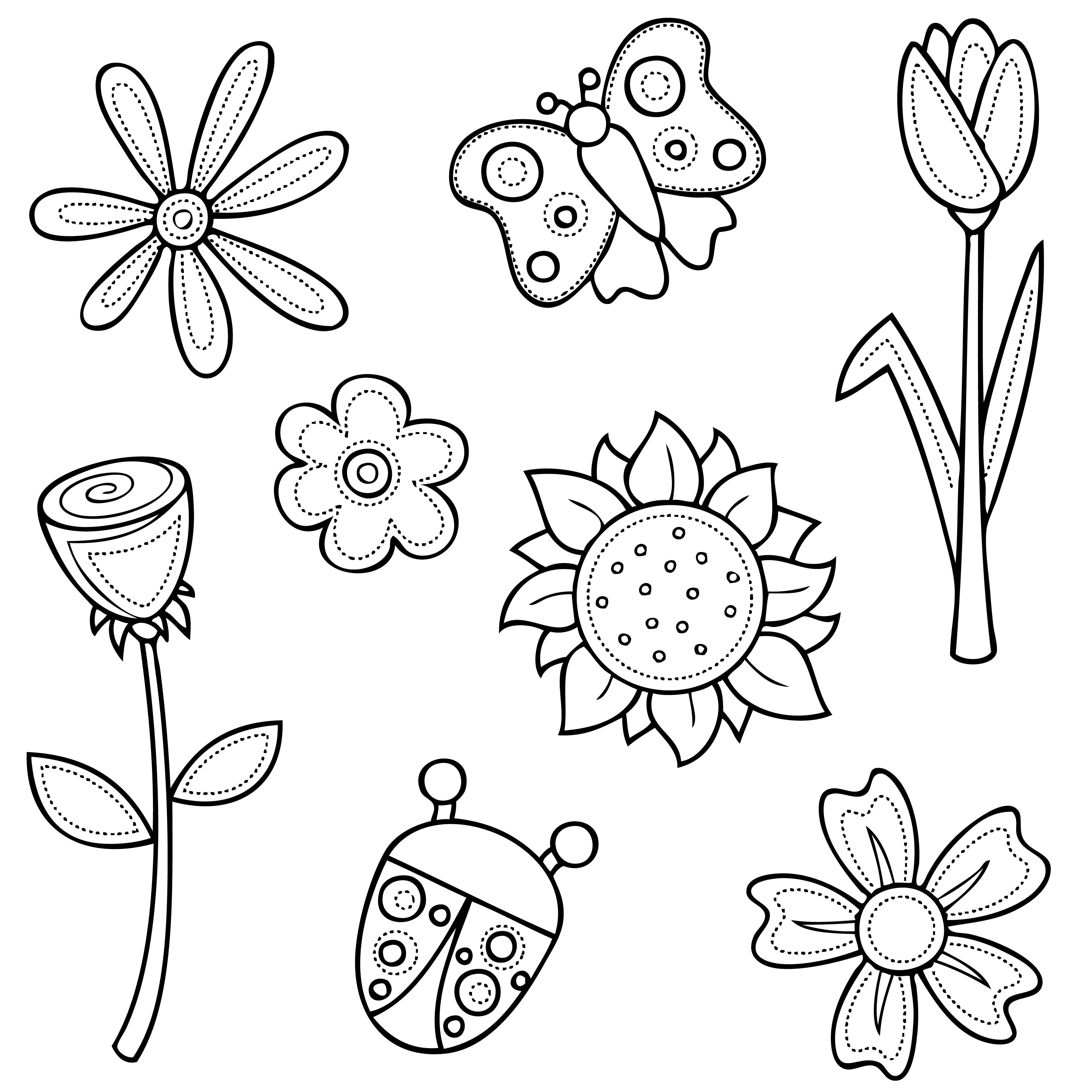 Flowers Digi Stamps Flower Pattern Drawing Flower Drawing