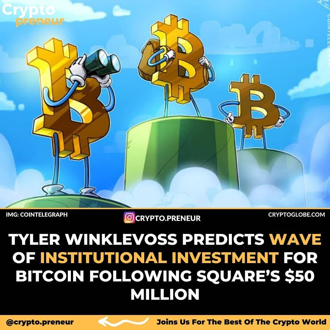 Gemini Ceo And Bitcoin Billionaire Tyler Winklevoss Says A Wave Of Institutional Investment Will Boo Tyler Winklevoss Investing Bitcoin