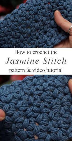 Jasmine Stitch häkeln kostenlose Anleitung Video Tutorial  #anleitung #hakeln #… – Crochet | Club #gratismønster