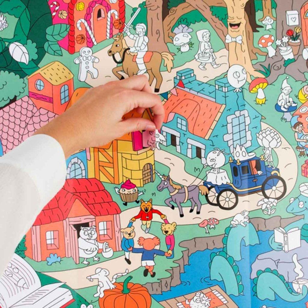 Omy Giant Coloring Poster Street Art Sticker Graffiti Sticker Street Art Giant Poster
