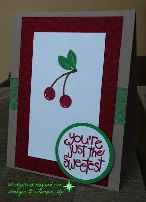 Windy's Wonderful Creations, Stampin' Up!, Apple Of My Eye
