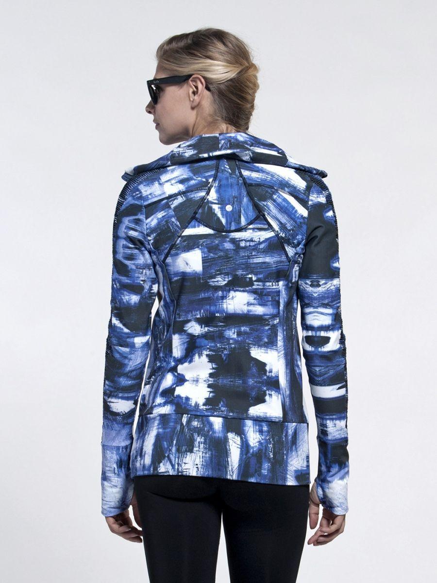 Zip Jacket in Blue Jackets, Yoga wear, Blue crush