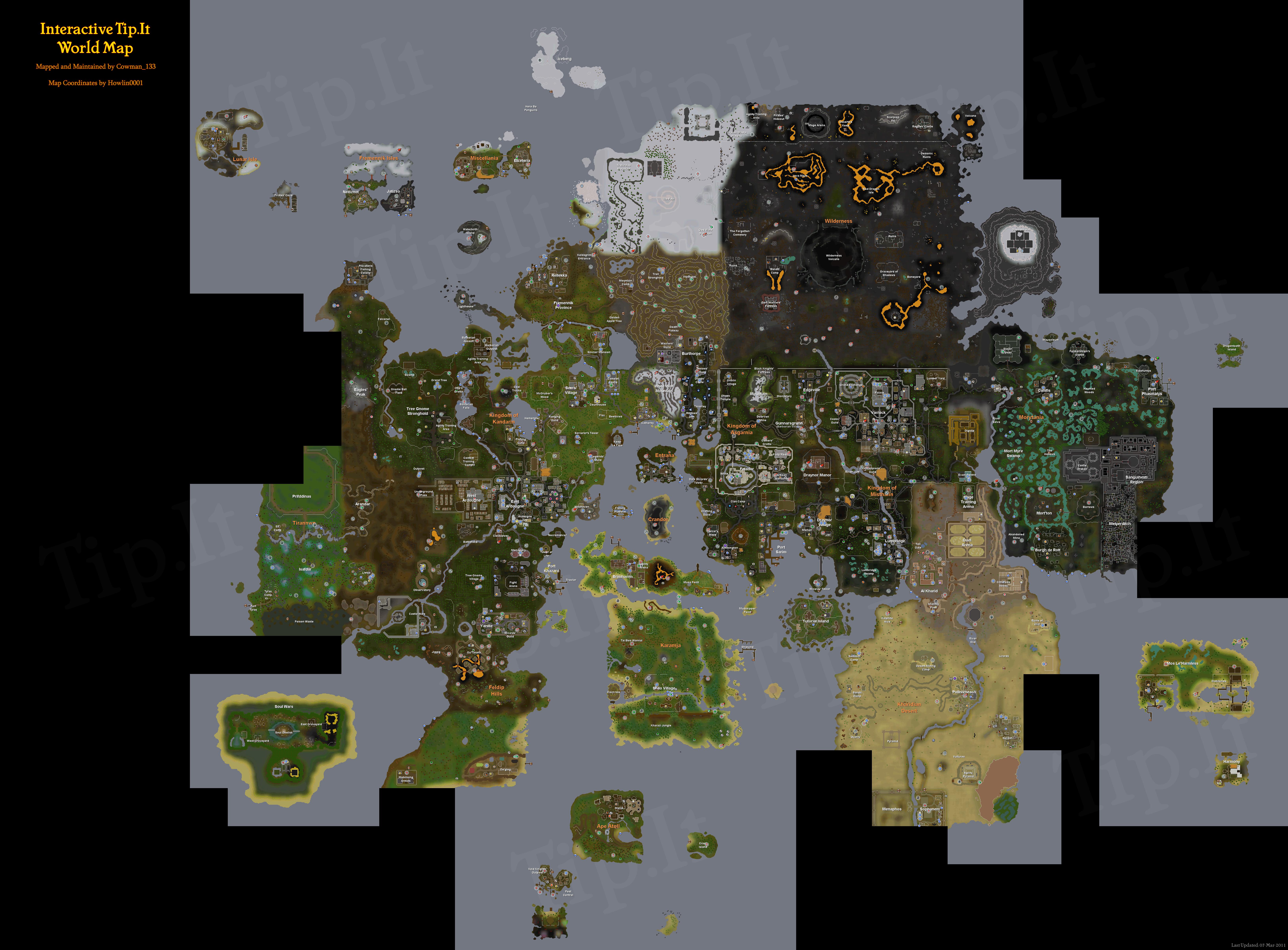 Full World Map :: The Original RuneScape Help Site!