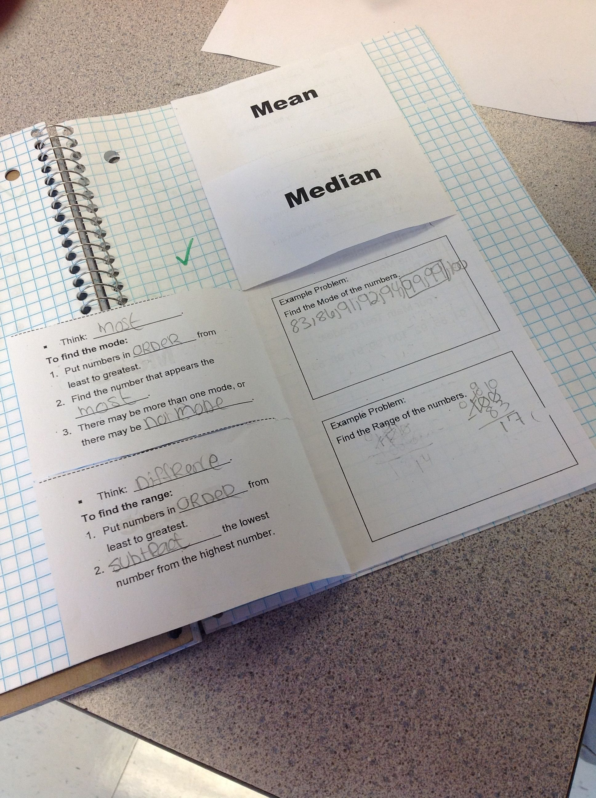 Foldables For Measures Of Central Tendency