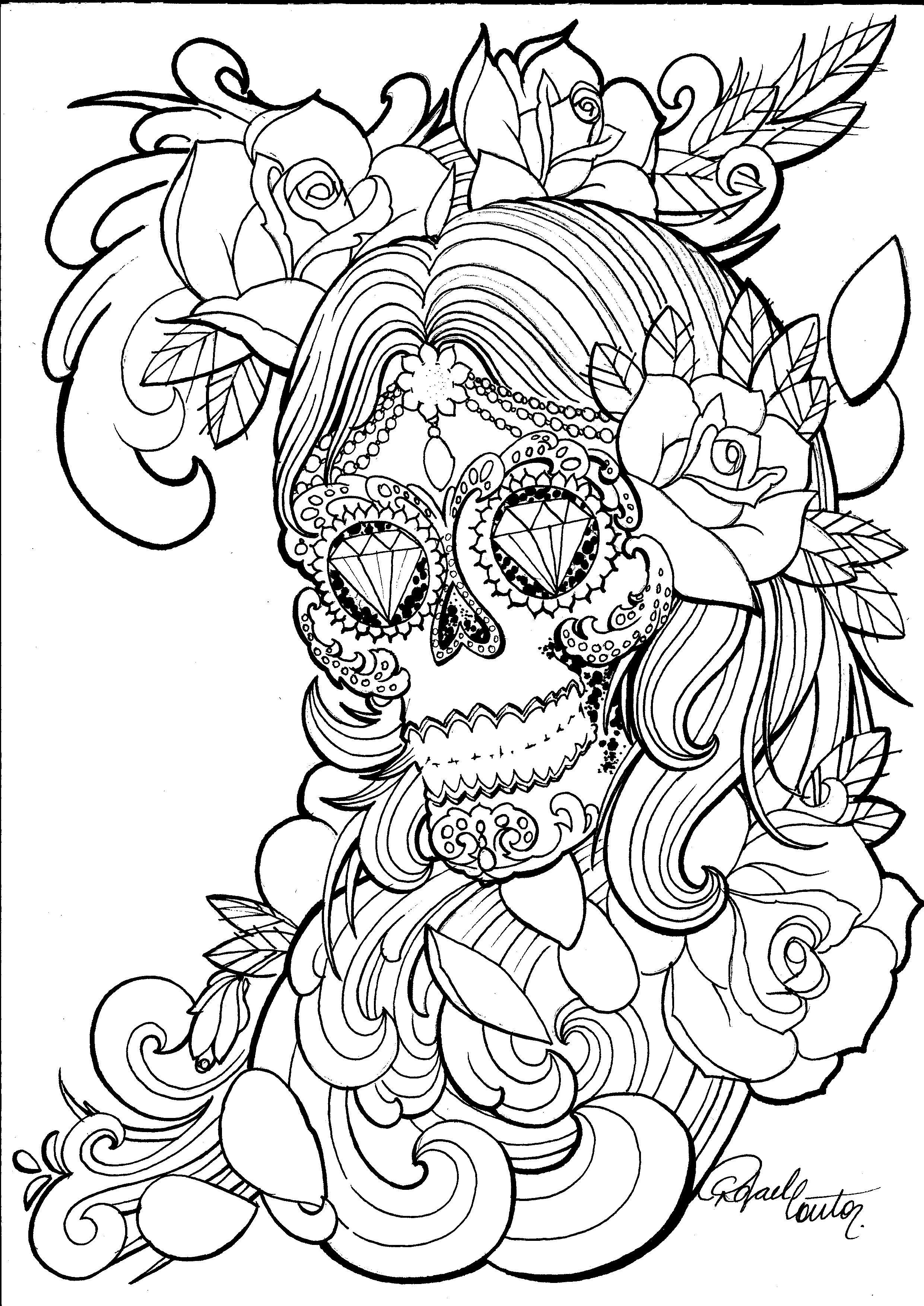 Pin de Addie Mcgee en Arty   Pinterest   Drawing, Calaveras y Hoja