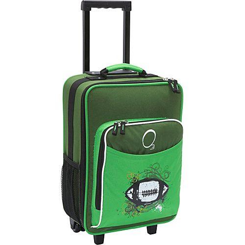 O3 Usa O3 Kids Football Luggage With Integrated Cooler Green Football - O3 Usa Small Rolling Luggage