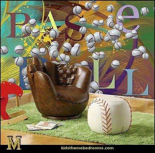 Super This Baseball Glove Chair And Baseball Ottoman Are The Inzonedesignstudio Interior Chair Design Inzonedesignstudiocom