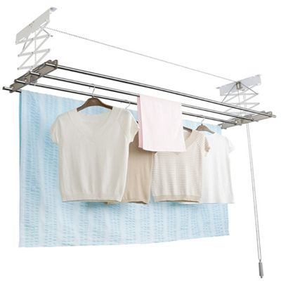 Wellex Ceiling Mounted Ball Chain Laundry Drying Rack Made In Korea System Clothesdrying Rack Clothes Laundry Dryer Folding Hanger Hanging Foldable Compact Dr Drying Rack Laundry Drying Rack Folding Hanger