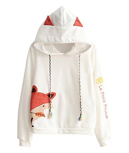 28fffa752a82 cute cat jackets for teen girls - Cosplay Anime Bunny Emo Girls Sweater  Hoodie Ears Costume
