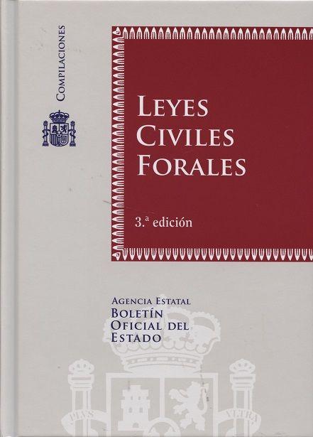 Leyes civiles forales.  3ª ed.  Boletín Oficial del Estado, 2013.
