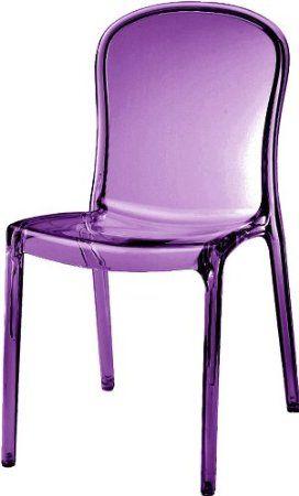 Thalya Style Chair Transparent Purple Purple Home Offices Purple Home Purple Chair