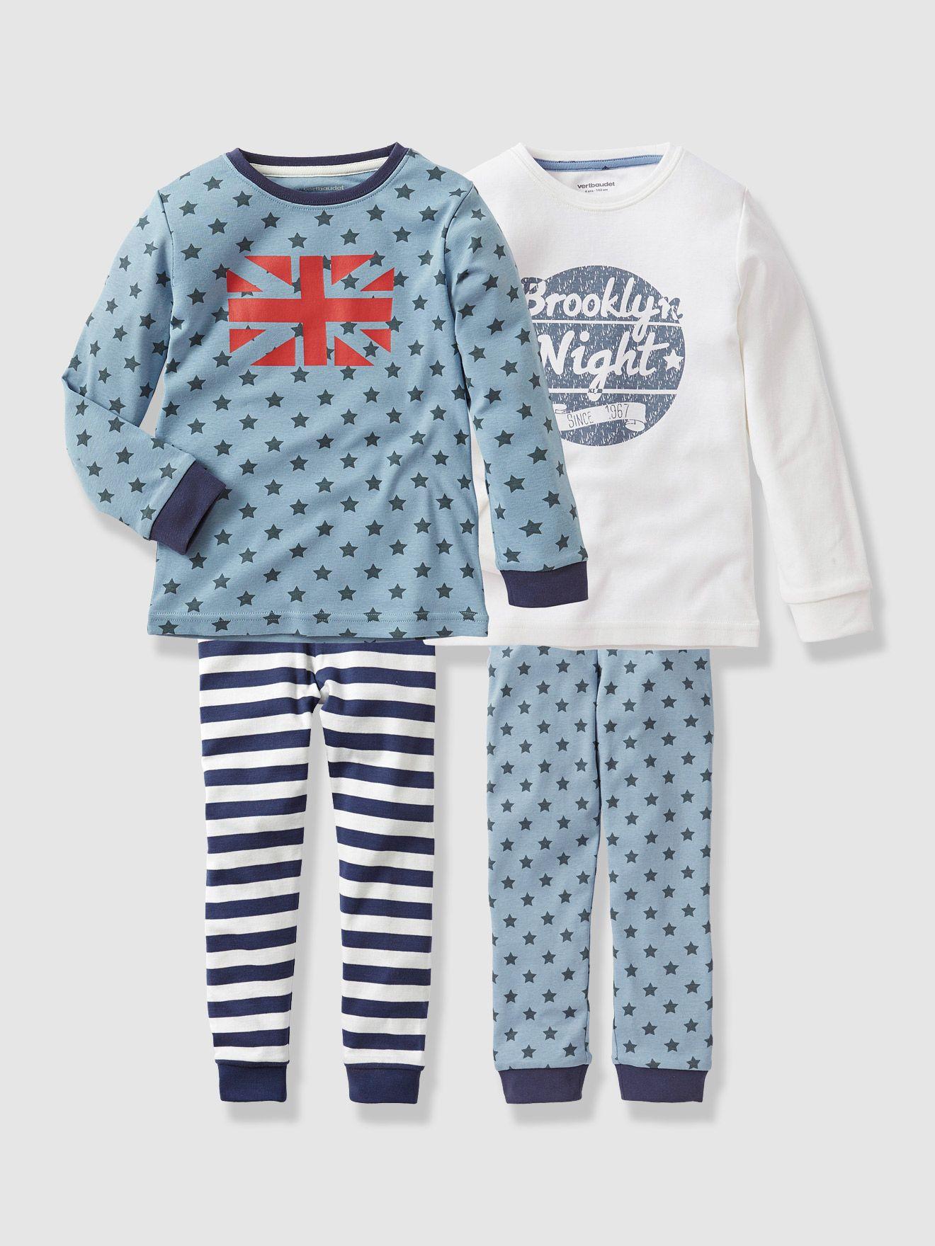 Pack of 2 Boy s Jersey Mix   Match Pyjamas c4c5f5752f62b