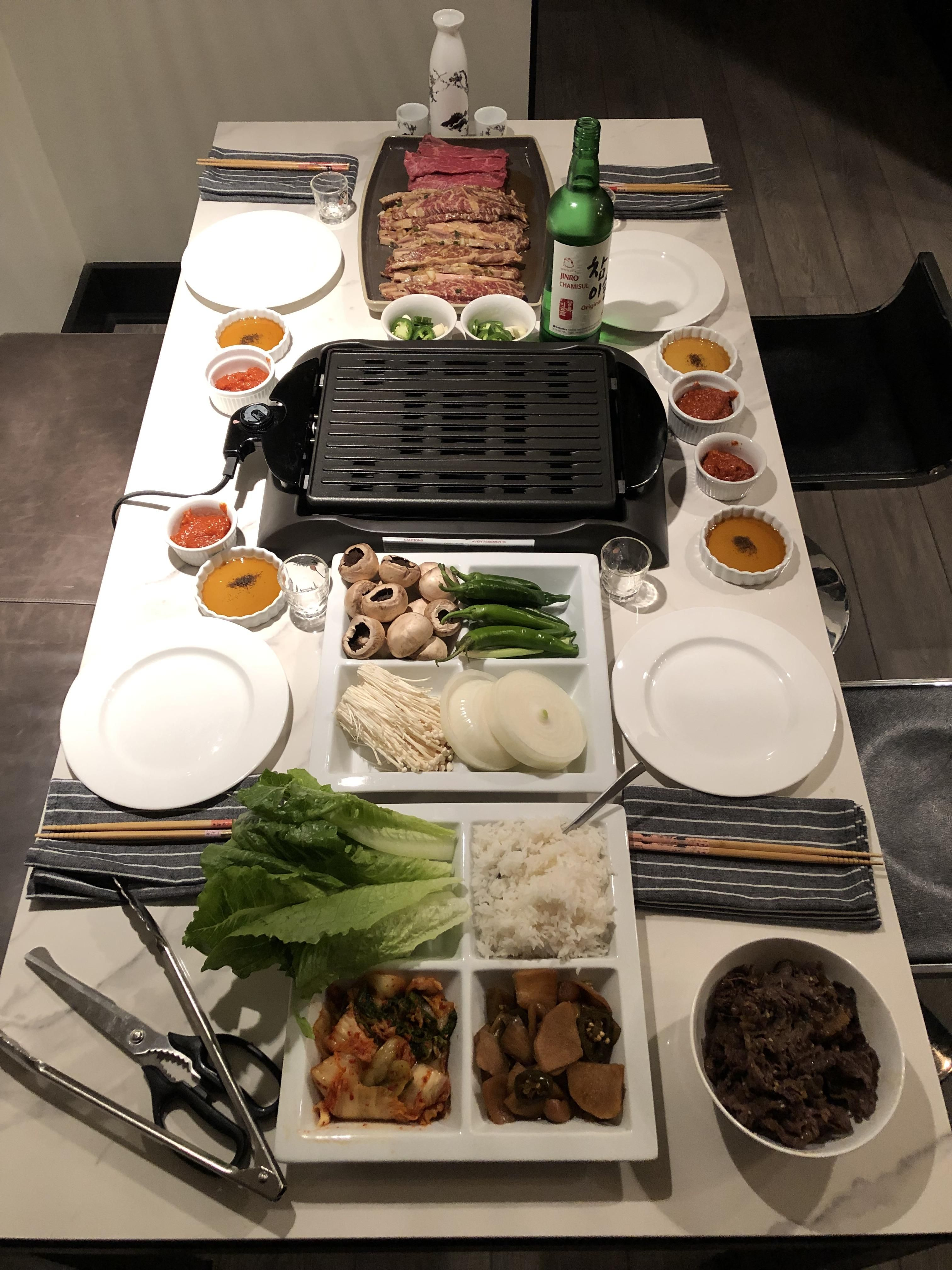 Homemade Korean Bbq Food Korean Bbq Korean Food Side Dishes