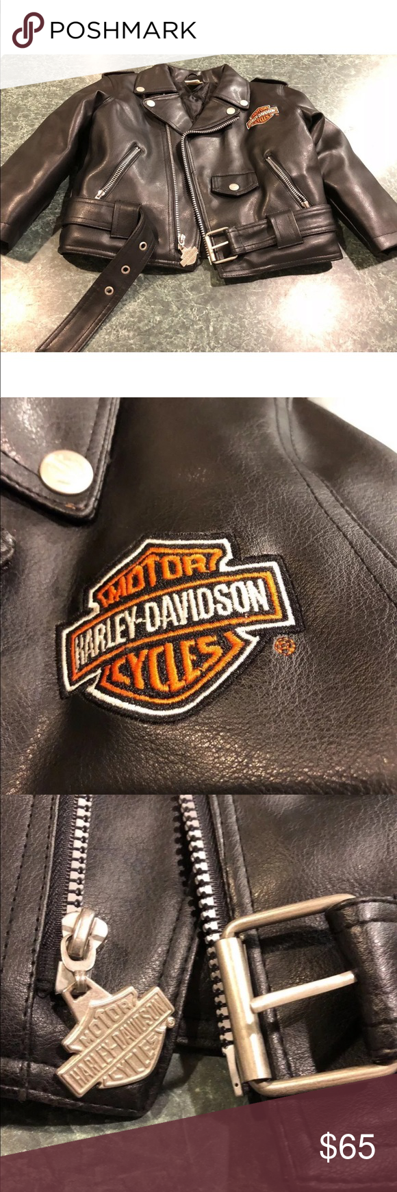 Harley Davidson Faux Leather Jacket Toddler 4t Faux Leather Jackets Leather Jacket Faux Leather Motorcycle Jacket [ 1740 x 580 Pixel ]