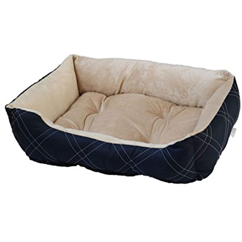 Happycare Textiles Hct Rec 005 Diamond Quilted Reversible Bed Cuddler Medium Size Navy Pet Habitat Bedding You Can G Diamond Quilt Medium Size Small Pets