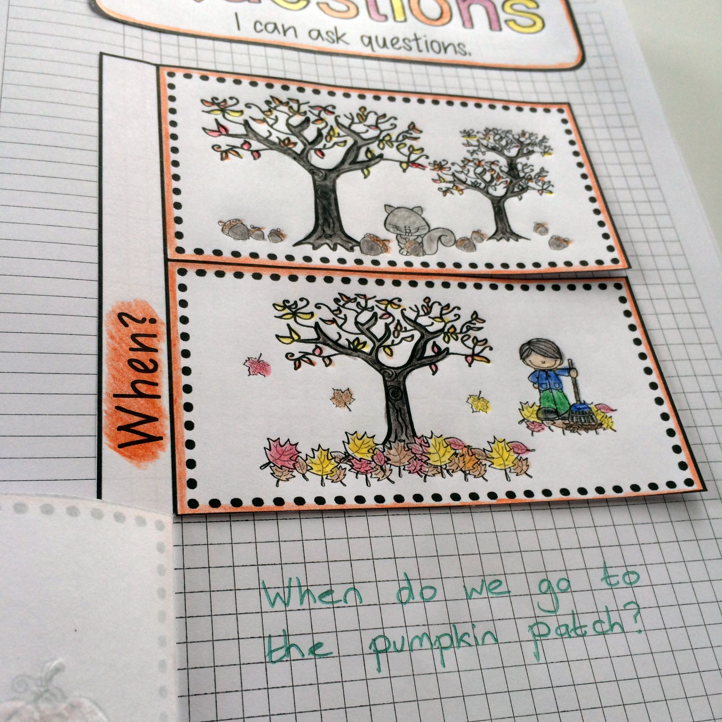 Fall Language Notebooks For Kids