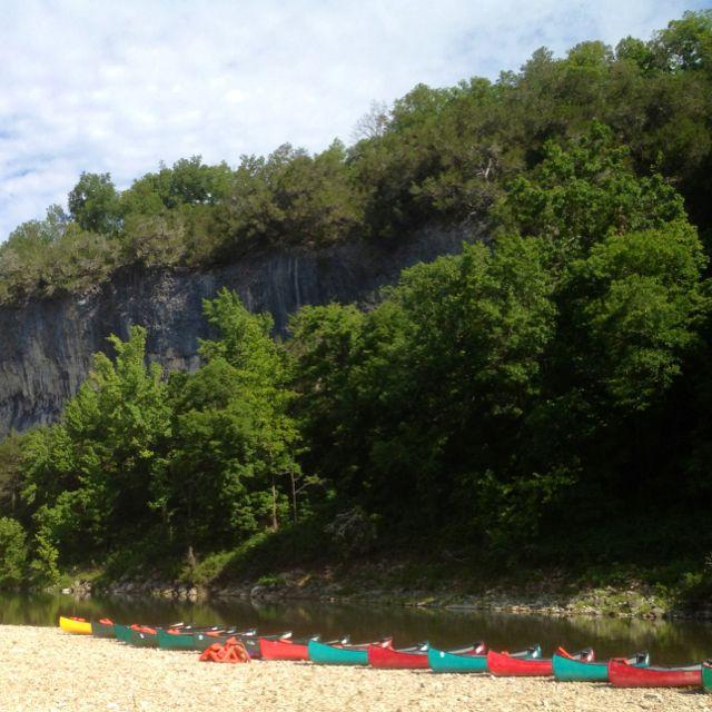 Canoes on the Buffalo River