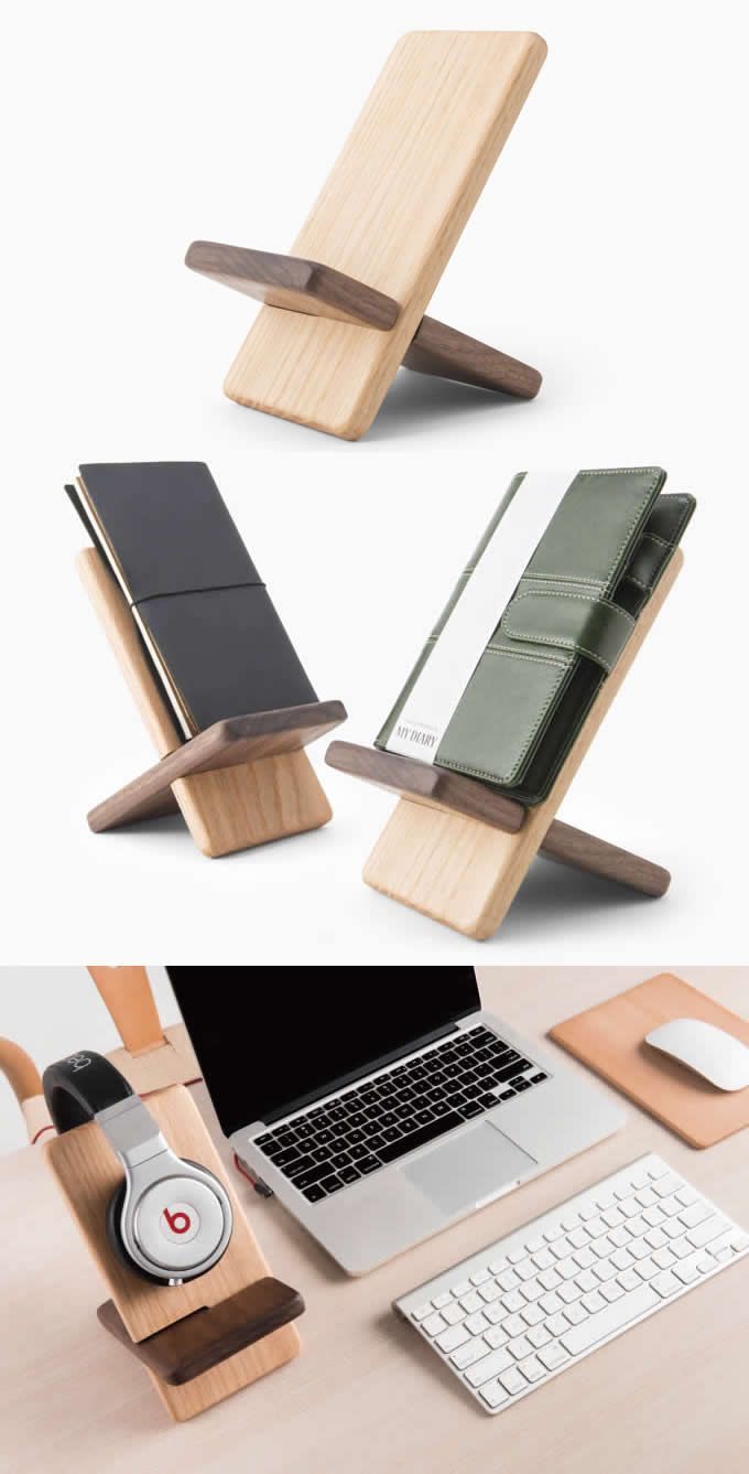 Portable Wooden Tablet Stand Mobile Phone Holder