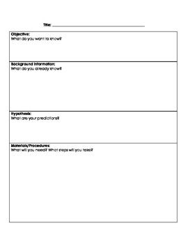 Introducing Students To The Format Of A Lab Report This Template