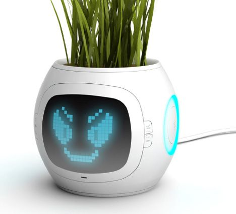 """Another unusual planter. """"Digital Pot"""" is fitted with sensors that process a series of…"""