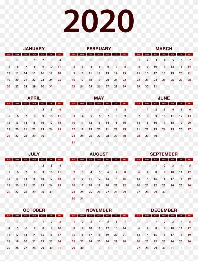 Chinese Lunar Calendar 2020 Printable Chinese lunar