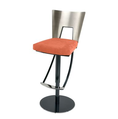 The Regal swivel bar stool by Elite Modern features a tall back for long-term  sc 1 st  Pinterest & The Regal swivel bar stool by Elite Modern features a tall back ... islam-shia.org