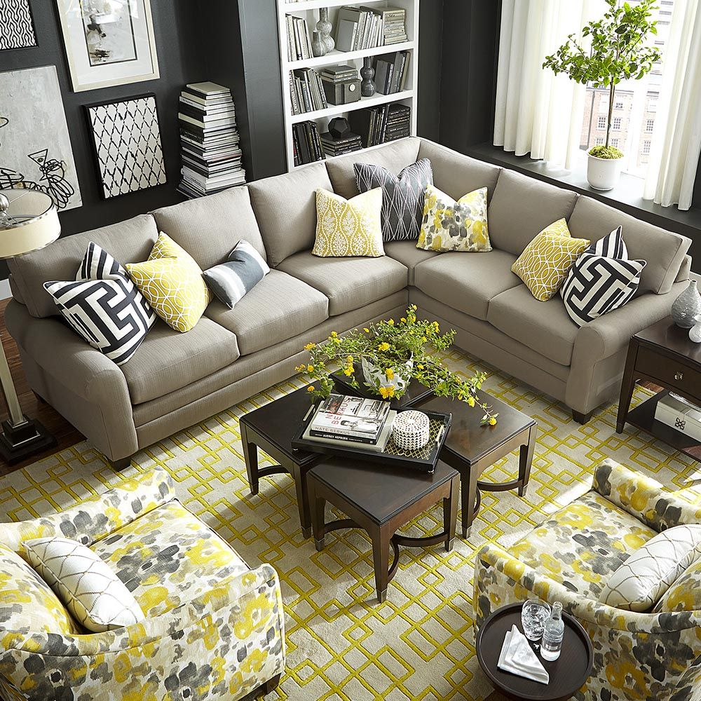 l shaped sectional couch in 2020 | yellow living room