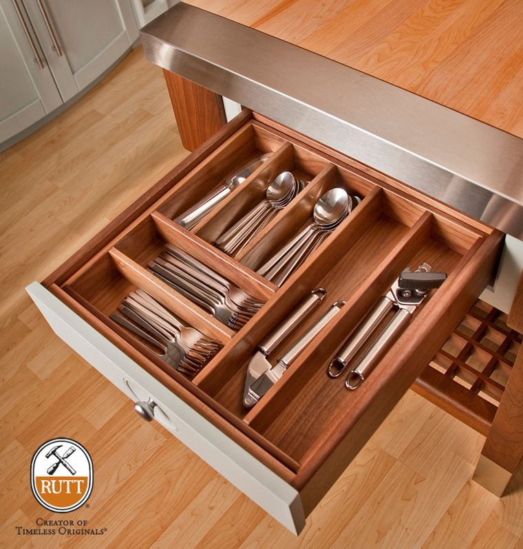 Removable Walnut Utensil Insert In Our Walnut Drawer Box. Kitchen Cabinet  Accessories, Custom Kitchens