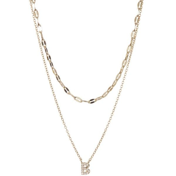 Nordstrom rack double layer cz initial pendant necklace 25 nordstrom rack double layer cz initial pendant necklace 25 liked on polyvore featuring mozeypictures Images