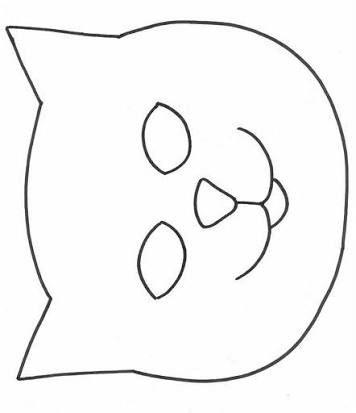 Kedi Maske Aplike Desenleri Desenler Dolgu Oyuncak Hayvan