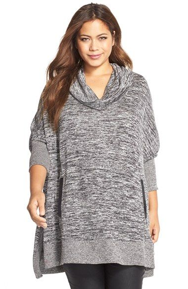 5089b6d6fff MELISSA MCCARTHY SEVEN7 Cowl Neck Poncho Top (Plus Size) available at   Nordstrom