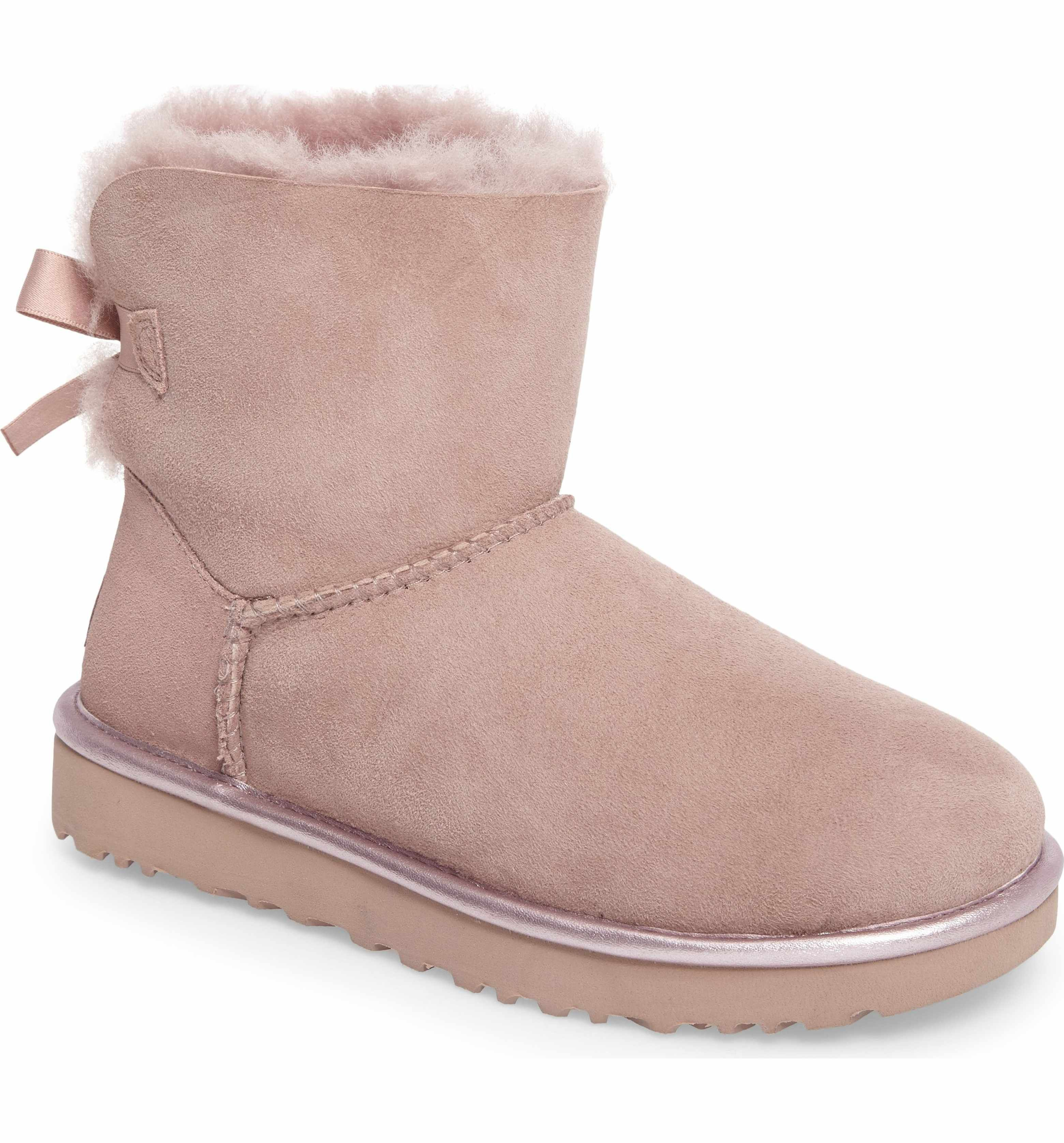 89e20a9cf61 Main Image - UGG® Mini Bailey Bow II Metallic Boot (Women)