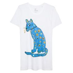 0db529203d91a BLUE CAT T-SHIRT WOMAN   T-Shirts   Cat dresses, Cat shirts, Mens tops
