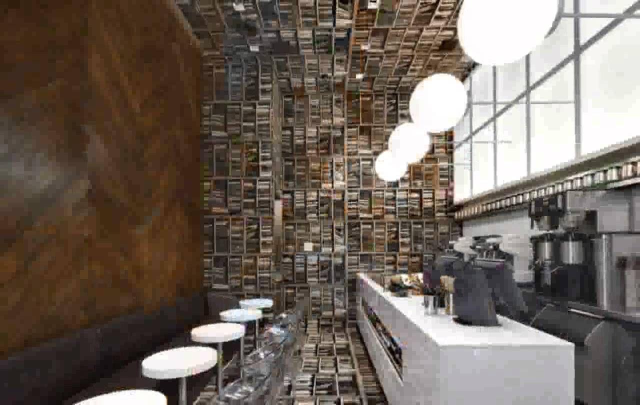 coffee shop cafe interior design library - Cafe Interior Design Ideas