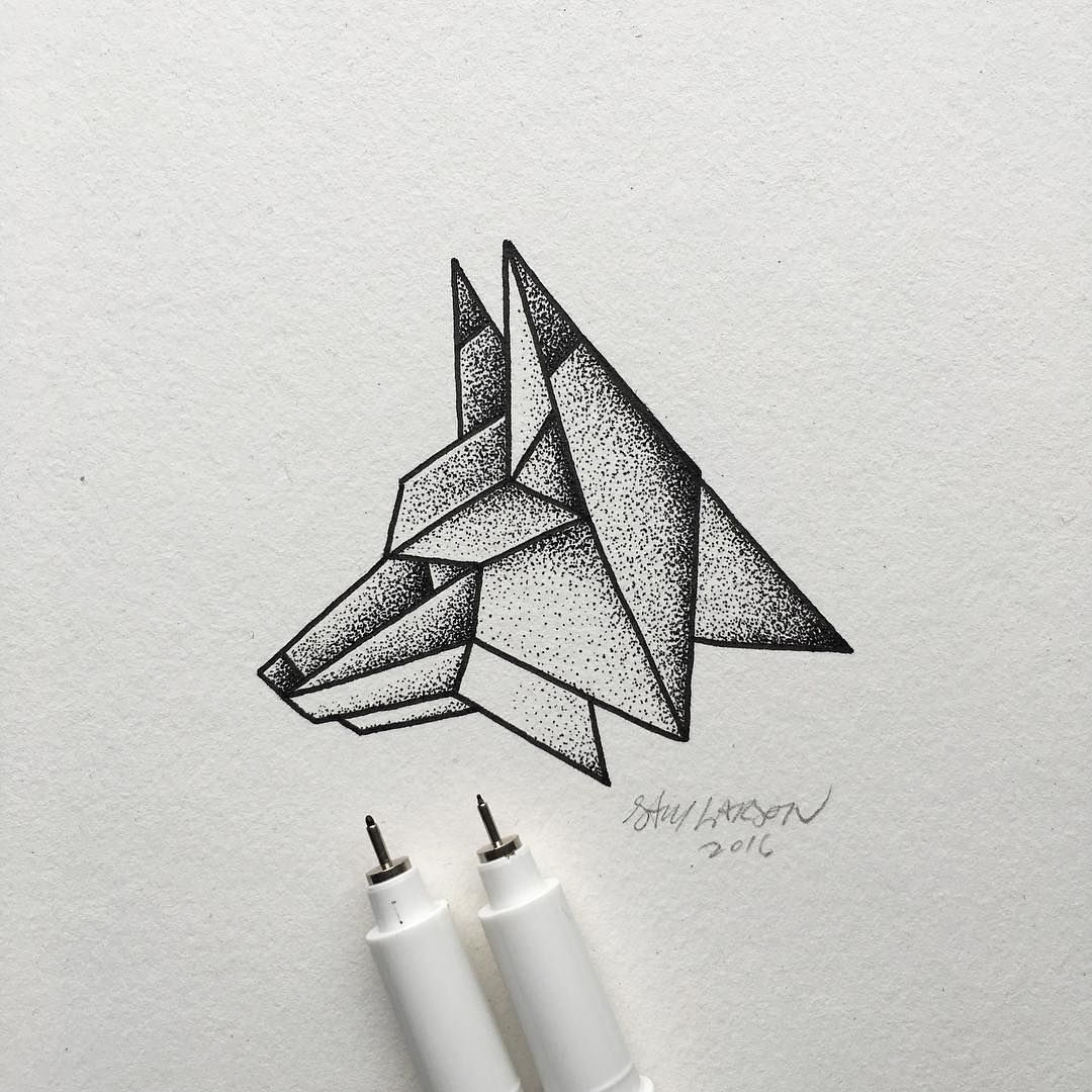 Lines And Dots Make Up This Simple Geometric Fox