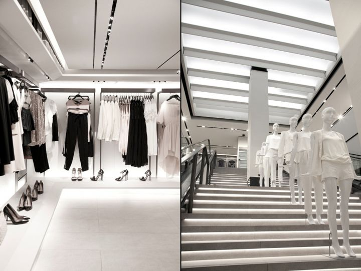 Exhibition Stand For Zara : Zara fifth ave store by elsa urquijo architects new york