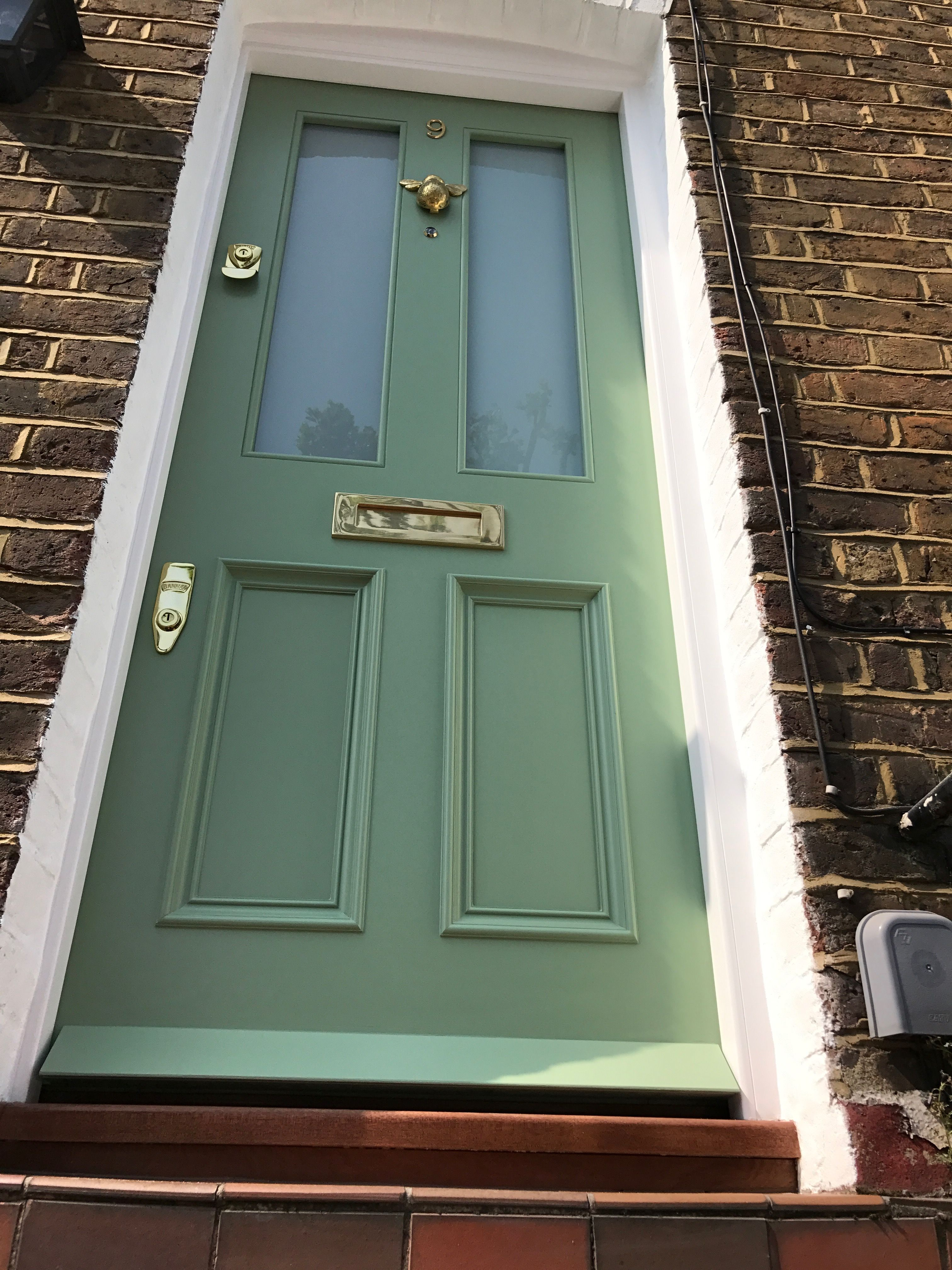 Lovely green Victorian front door recently installed in London ...