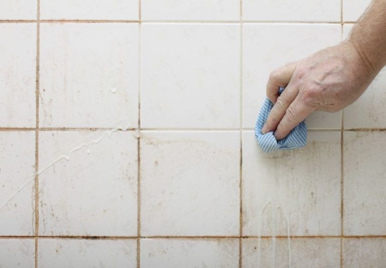 2 Ingredient Homemade Grout Cleaner Homemade Grout Cleaner Clean Tile Bathroom Cleaning Hacks