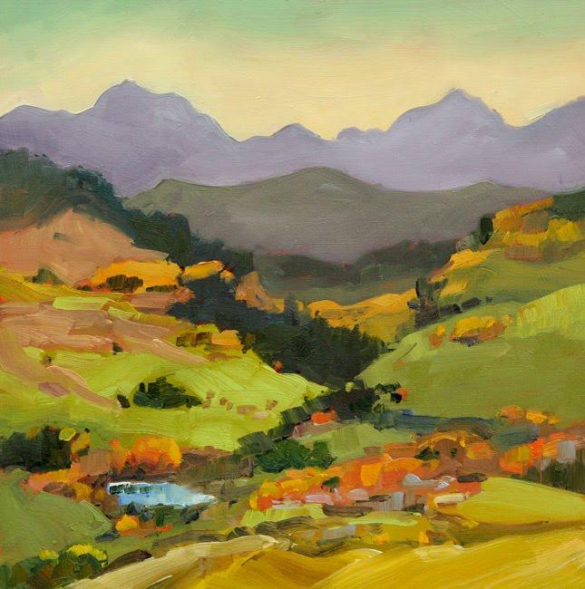 """Sharon Lynn Williams' Art Blog """"Fall Foothills Patterns"""