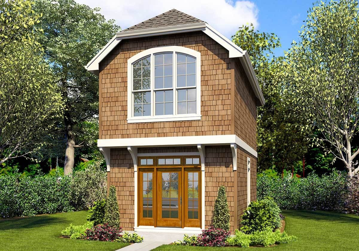 Plan 69703am Delightful Tiny House Plan With Upstairs Bedroom In 2020 Craftsman Style House Plans House Plans Cottage House Plans