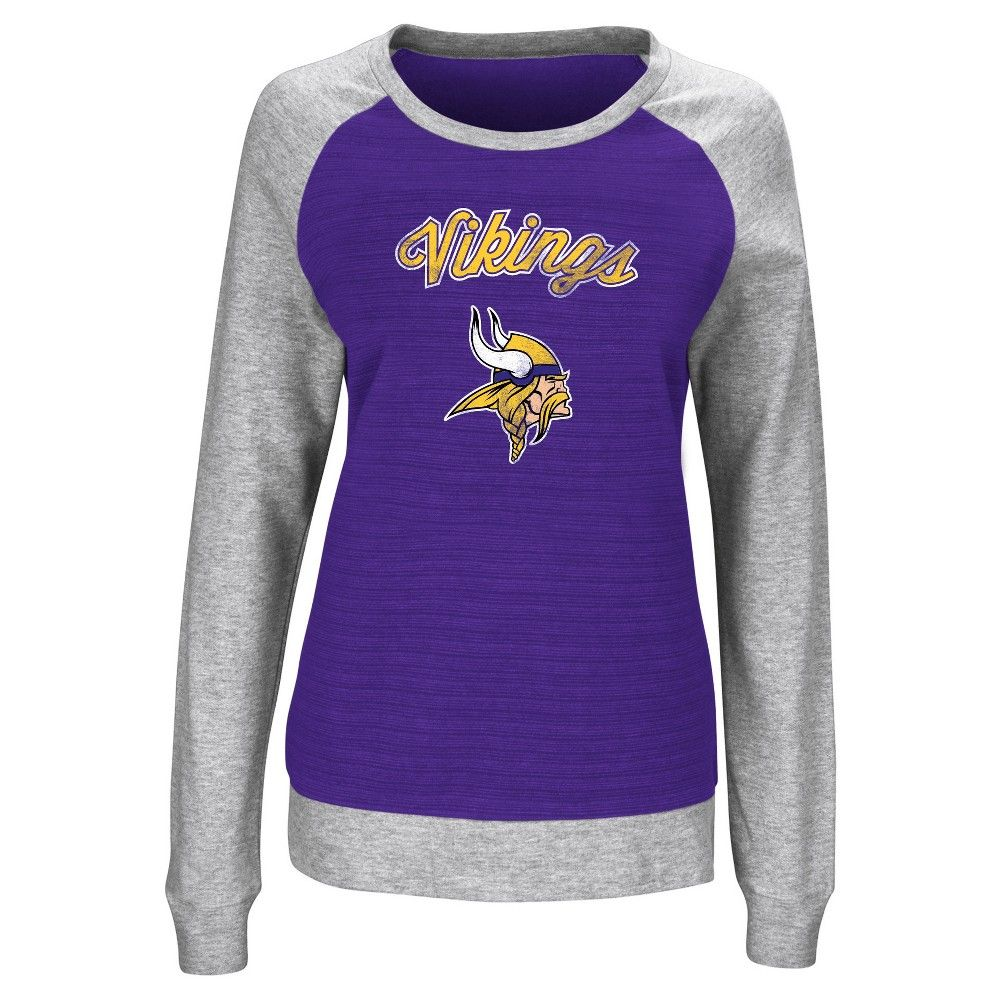 san francisco 9a2d0 391b7 Minnesota Vikings Sweatshirt L, Women's, Gray Multicolored ...