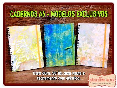 Studio AM - Papelaria e Presentes Personalizados: Linha de Cadernos Personalizados