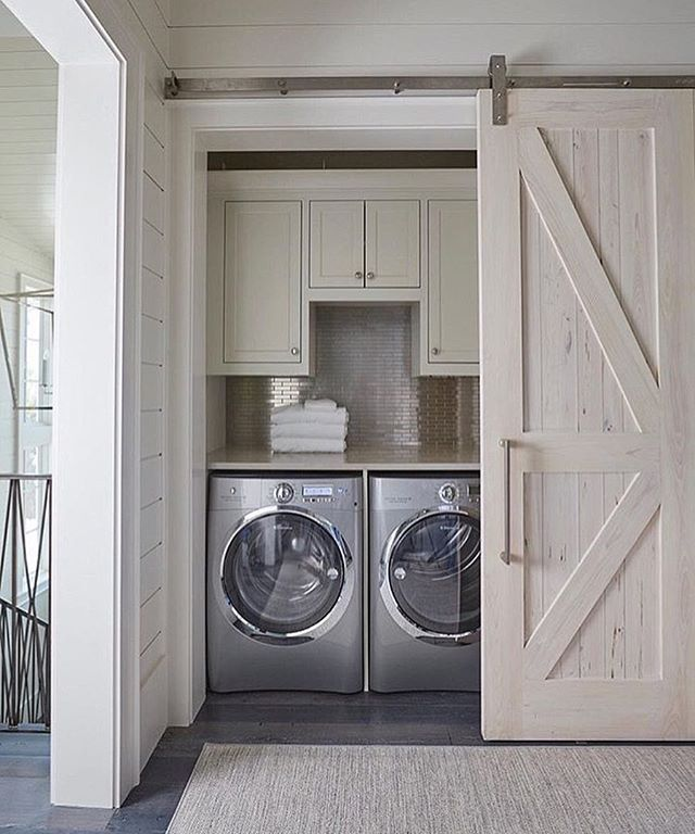 A Beautiful Hidden Laundry Room Nook Designed By