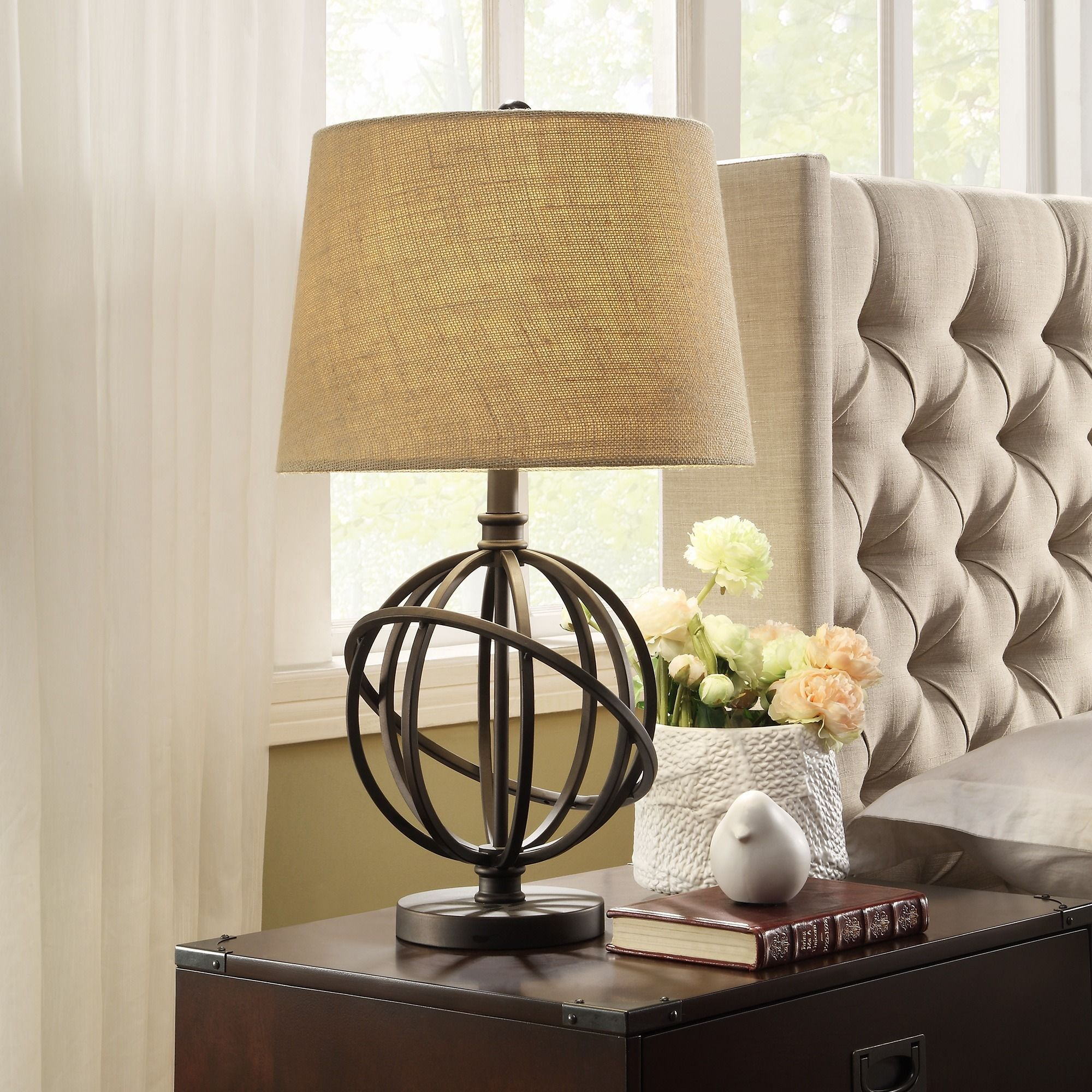 Cooper Antique Bronze Metal Orbit Globe 1-light Accent Table Lamp by  iNSPIRE Q Artisan by iNSPIRE Q