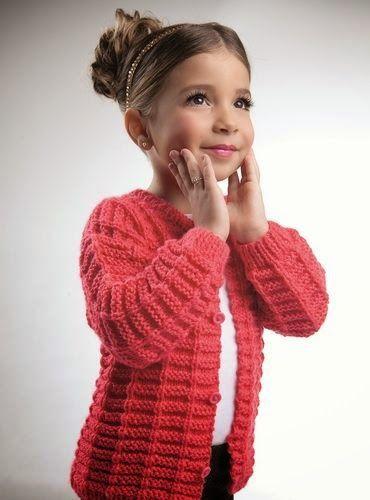 Receita de Crochê Infantil: Casaco de crochê tamanho 2 anos