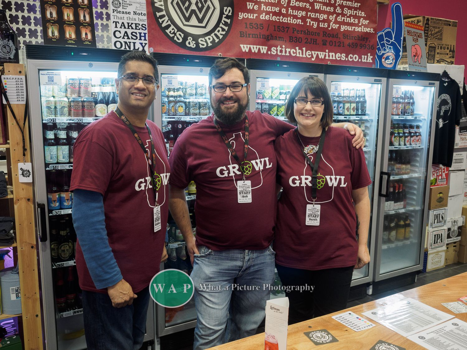 The Stirchley Wines Team at Birmingham Beer and Cider Festival 2015