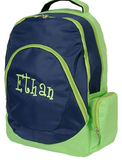 ee2a28651d Personalized Boys Backpack-I love having names on the little ones stuff!